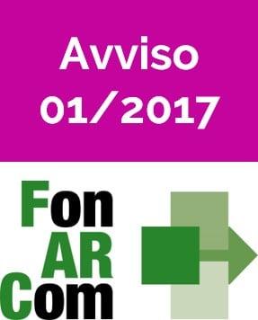 Avviso 01/2017 Fonarcom